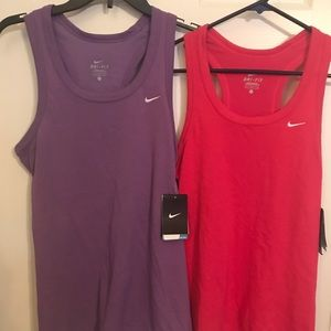 2 Nike workout tops NWT